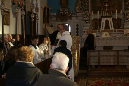 Préparation de la messe de Bournainville