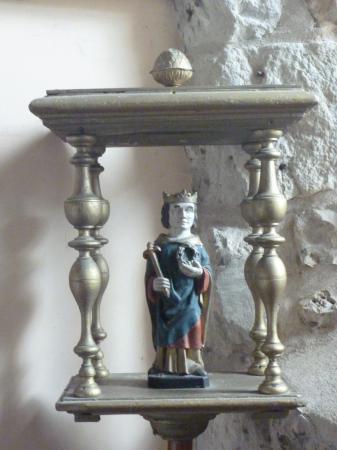 Statue de Saint Louis, église du Planquay